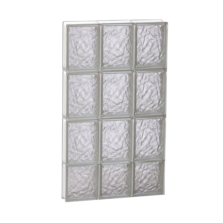REDI2SET Ice Pattern Frameless Replacement Glass Block Window (Rough Opening: 18-in x 30-in; Actual: 17.25-in x 29-in)