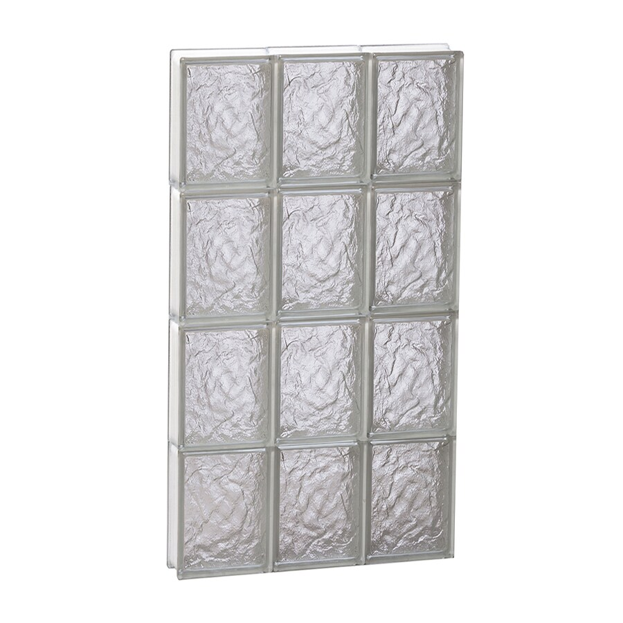 REDI2SET Ice Glass Pattern Frameless Replacement Block Window (Rough Opening: 18-in x 32-in; Actual: 17.25-in x 31-in)