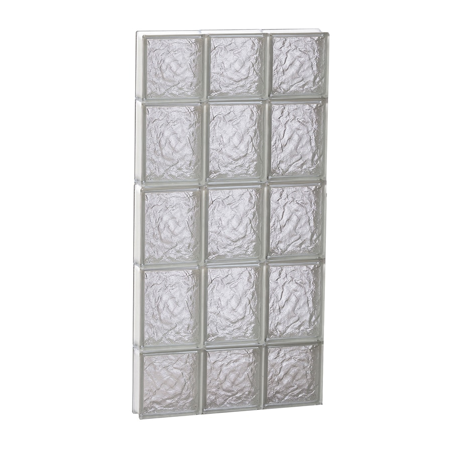 REDI2SET Ice Glass Pattern Frameless Replacement Block Window (Rough Opening: 18-in x 36-in; Actual: 17.25-in x 34.75-in)