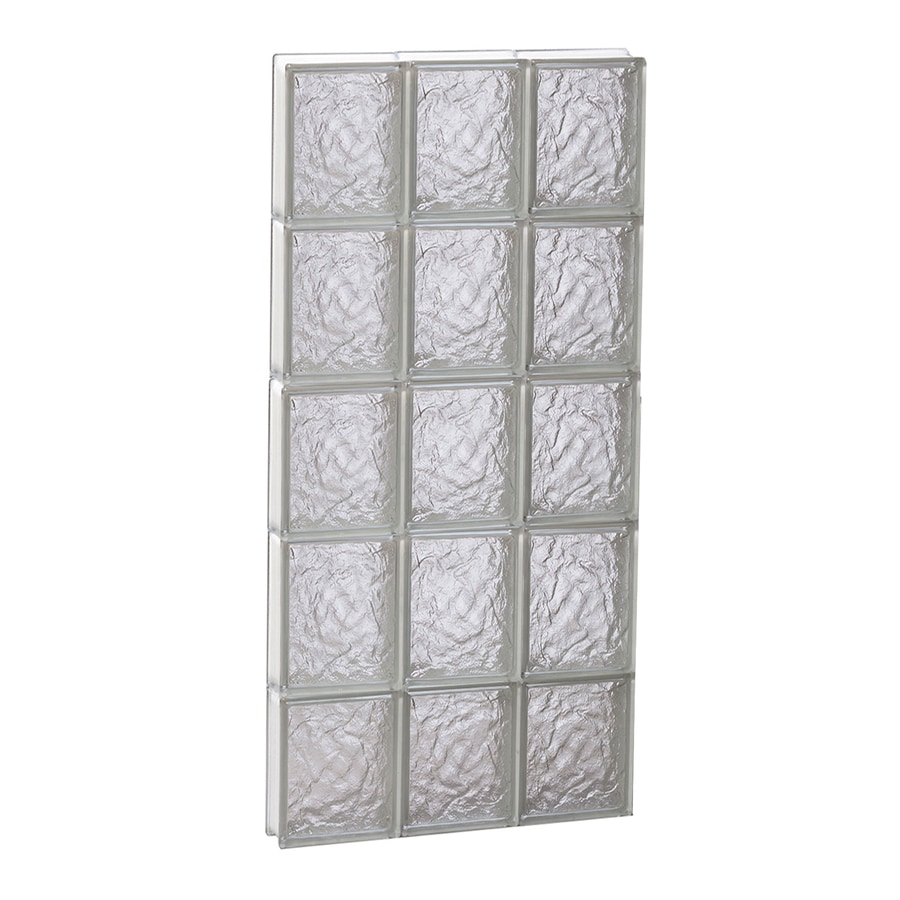REDI2SET Ice Glass Pattern Frameless Replacement Block Window (Rough Opening: 18-in x 40-in; Actual: 17.25-in x 38.75-in)