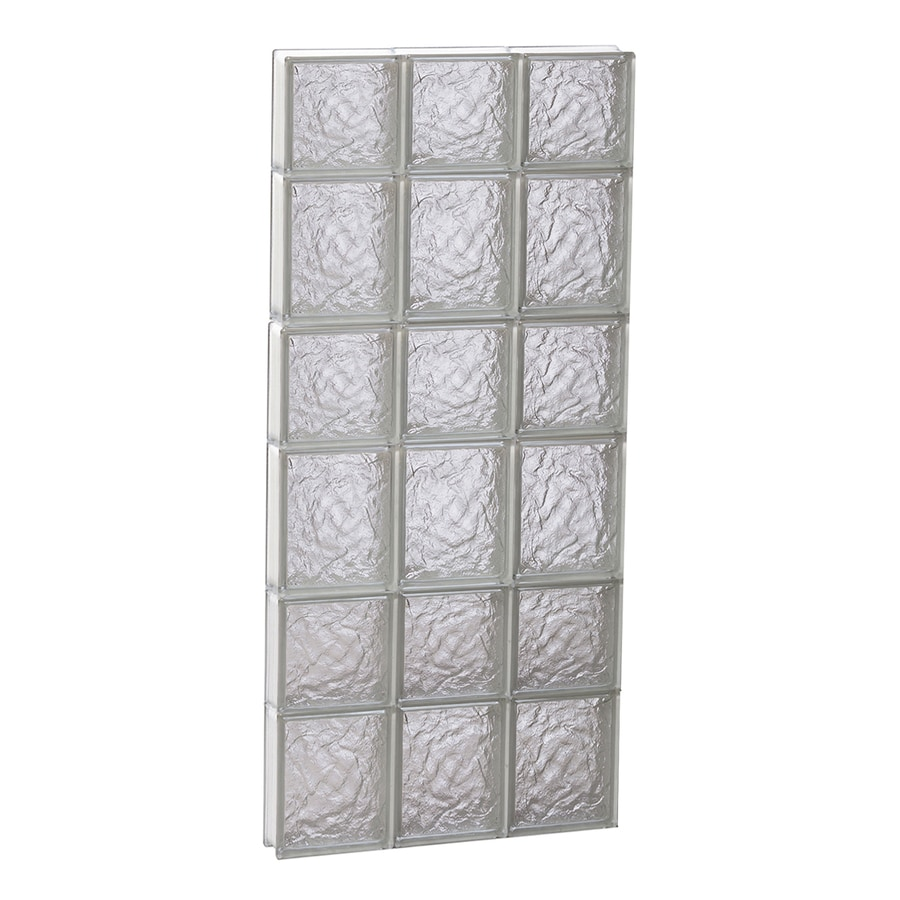 REDI2SET Ice Glass Pattern Frameless Replacement Block Window (Rough Opening: 18-in x 42-in; Actual: 17.25-in x 40.5-in)