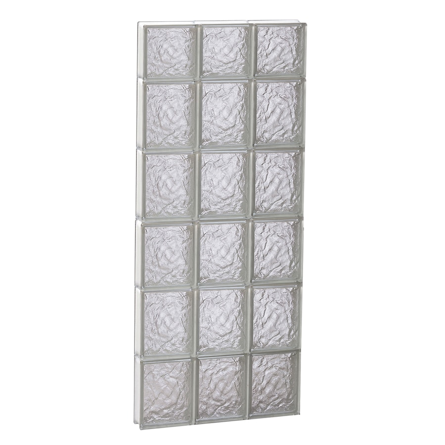 REDI2SET Ice Glass Pattern Frameless Replacement Block Window (Rough Opening: 18-in x 46-in; Actual: 17.25-in x 44.5-in)