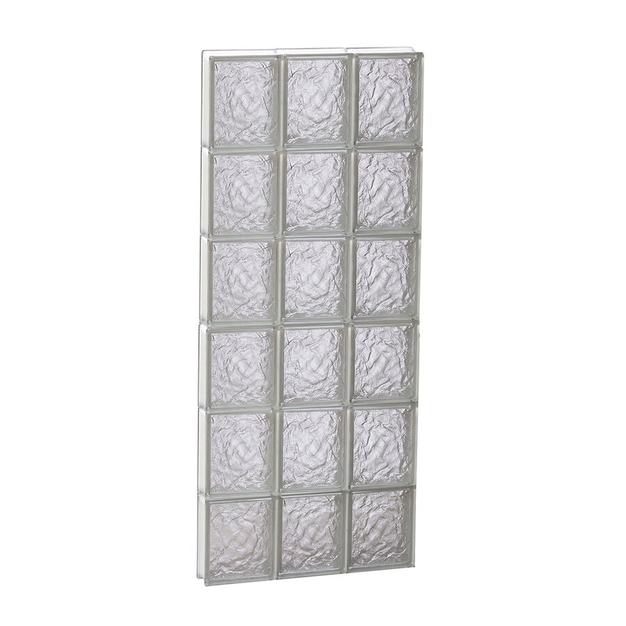 REDI2SET Ice Glass Pattern Frameless Replacement Glass Block Window (Rough Opening: 18-in x 48-in; Actual: 17.2500-in x 46.5000-in)