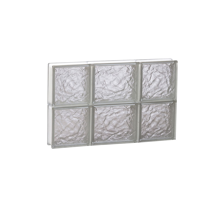 REDI2SET Ice Glass Frameless Replacement Glass Block Window (Rough Opening: 20-in x 12-in; Actual: 19.25-in x 11.5-in)