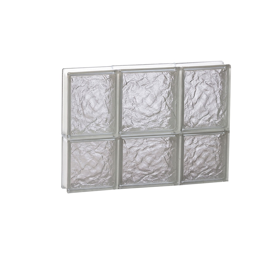 REDI2SET Ice Pattern Frameless Replacement Glass Block Window (Rough Opening: 20-in x 14-in; Actual: 19.25-in x 13.5-in)