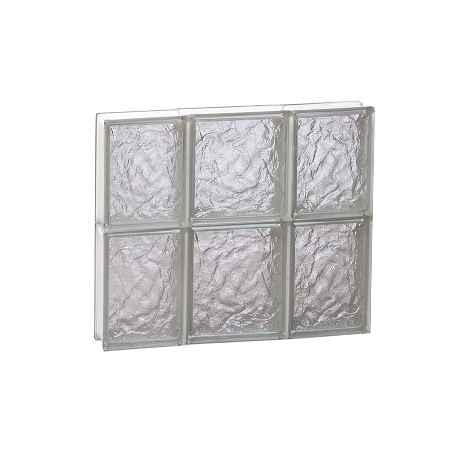 REDI2SET Ice Pattern Frameless Replacement Glass Block Window (Rough Opening: 20-in x 16-in; Actual: 19.25-in x 15.5-in)