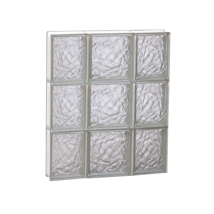 REDI2SET Ice Glass Frameless Replacement Glass Block Window (Rough Opening: 20-in x 24-in; Actual: 19.25-in x 23.25-in)