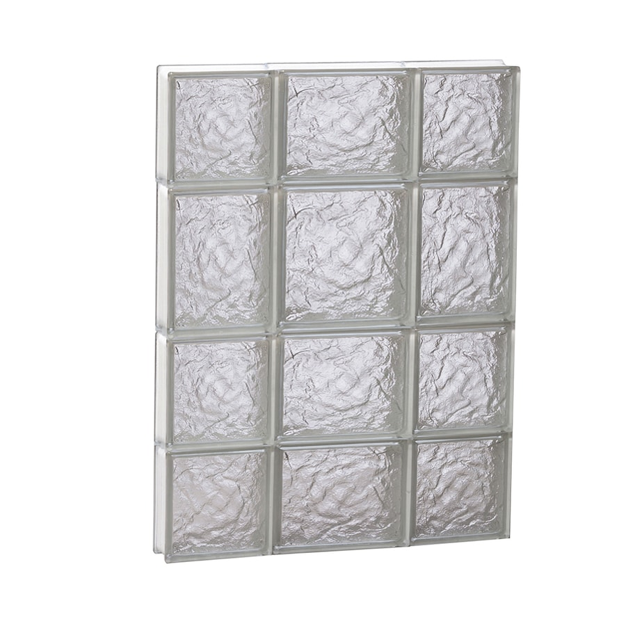 REDI2SET Ice Glass Pattern Frameless Replacement Block Window (Rough Opening: 20-in x 26-in; Actual: 19.25-in x 25-in)