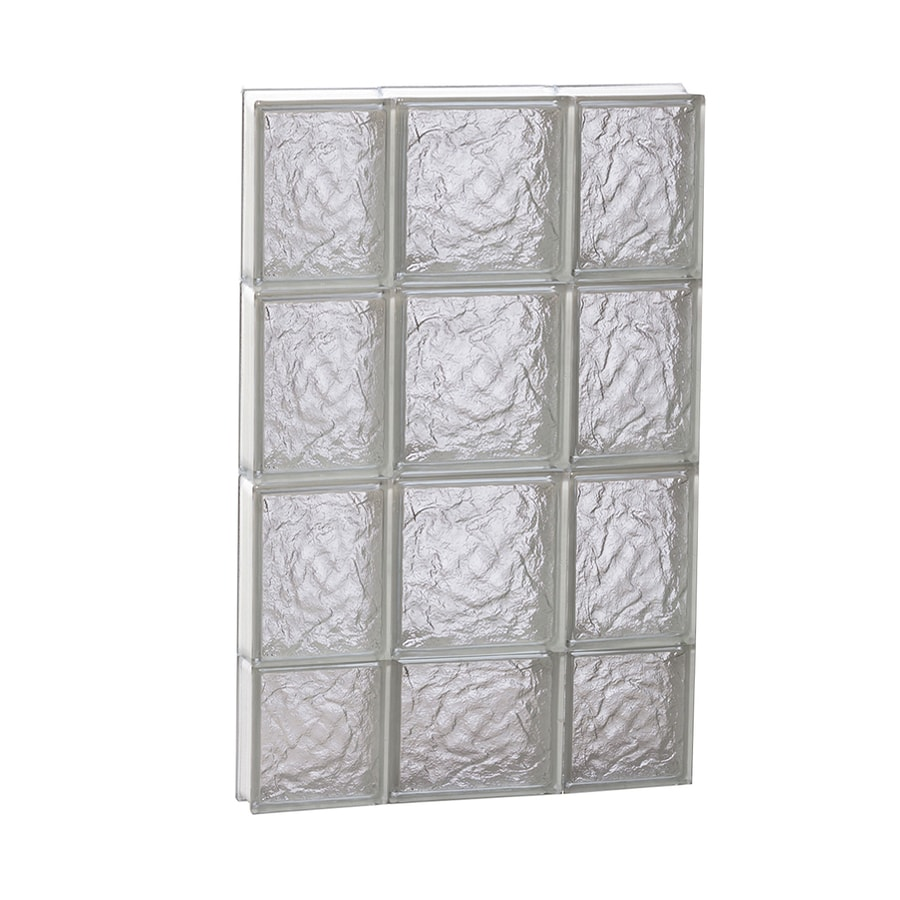 REDI2SET Ice Glass Frameless Replacement Glass Block Window (Rough Opening: 20-in x 30-in; Actual: 19.25-in x 29-in)