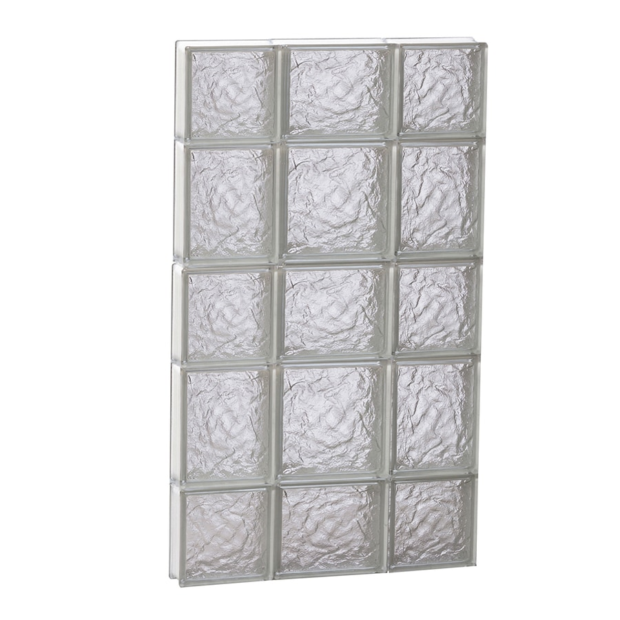 REDI2SET Ice Glass Pattern Frameless Replacement Glass Block Window (Rough Opening: 20-in x 34-in; Actual: 19.2500-in x 32.7500-in)