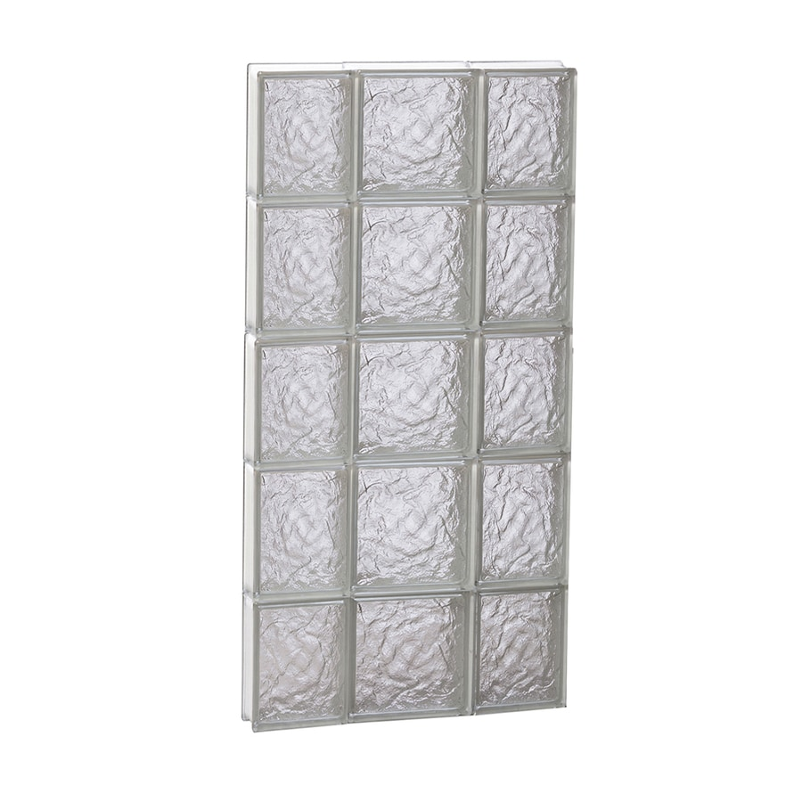 REDI2SET Ice Glass Pattern Frameless Replacement Block Window (Rough Opening: 20-in x 40-in; Actual: 19.25-in x 38.75-in)