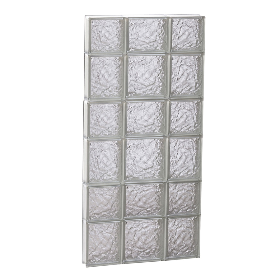 REDI2SET Ice Glass Pattern Frameless Replacement Glass Block Window (Rough Opening: 20-in x 42-in; Actual: 19.2500-in x 40.5000-in)