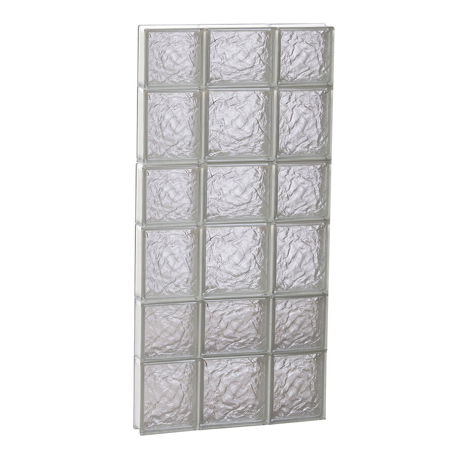 REDI2SET Ice Glass Frameless Replacement Glass Block Window (Rough Opening: 20-in x 42-in; Actual: 19.25-in x 40.5-in)