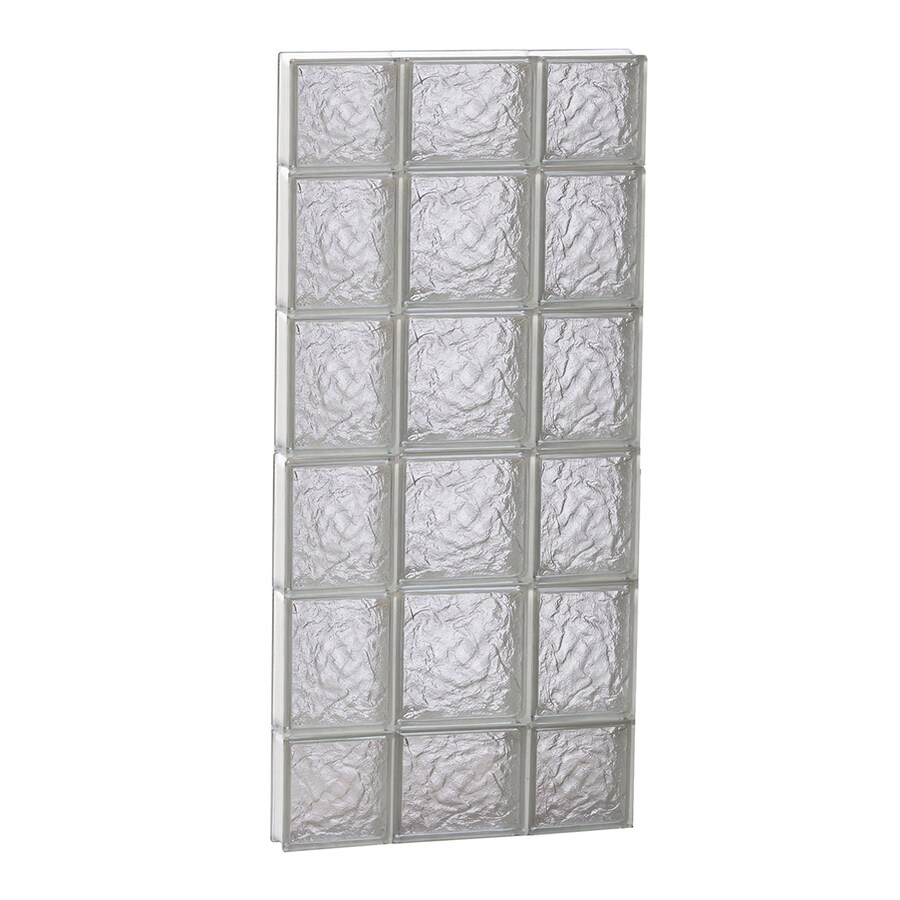 REDI2SET Ice Pattern Frameless Replacement Glass Block Window (Rough Opening: 20-in x 44-in; Actual: 19.25-in x 42.5-in)