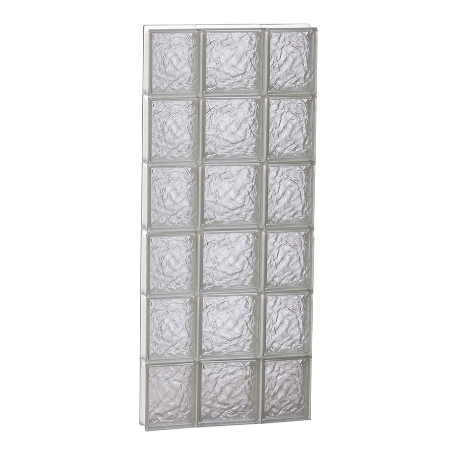 REDI2SET Ice Pattern Frameless Replacement Glass Block Window (Rough Opening: 20-in x 48-in; Actual: 19.25-in x 46.5-in)