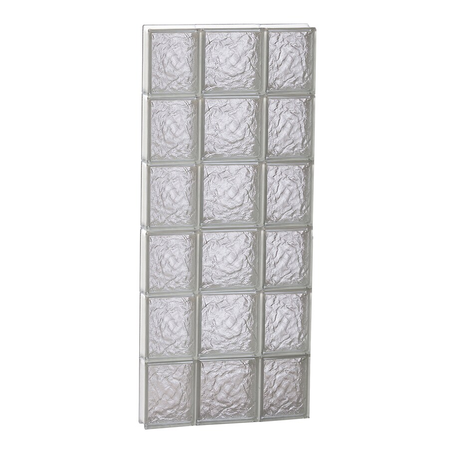 REDI2SET Ice Glass Pattern Frameless Replacement Glass Block Window (Rough Opening: 20-in x 48-in; Actual: 19.25-in x 46.5-in)