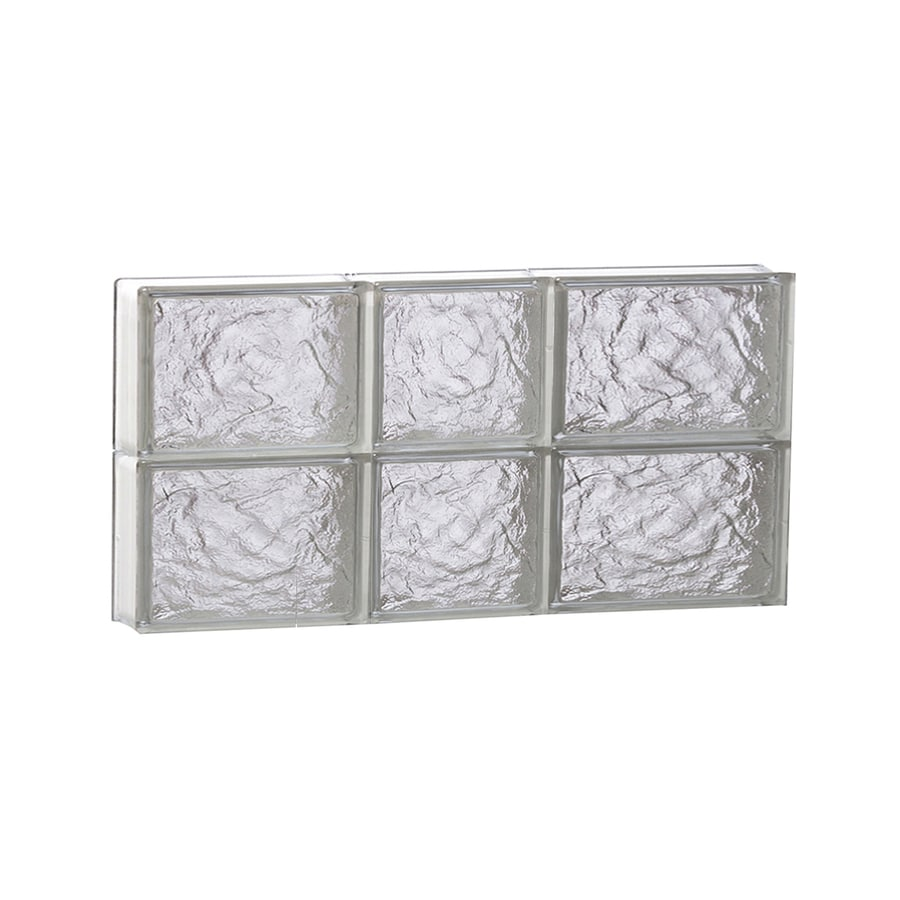 REDI2SET Ice Glass Pattern Frameless Replacement Block Window (Rough Opening: 22-in x 12-in; Actual: 21.25-in x 11.5-in)