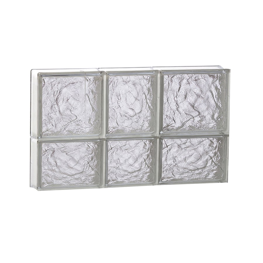 REDI2SET Ice Glass Pattern Frameless Replacement Block Window (Rough Opening: 22-in x 14-in; Actual: 21.25-in x 13.5-in)