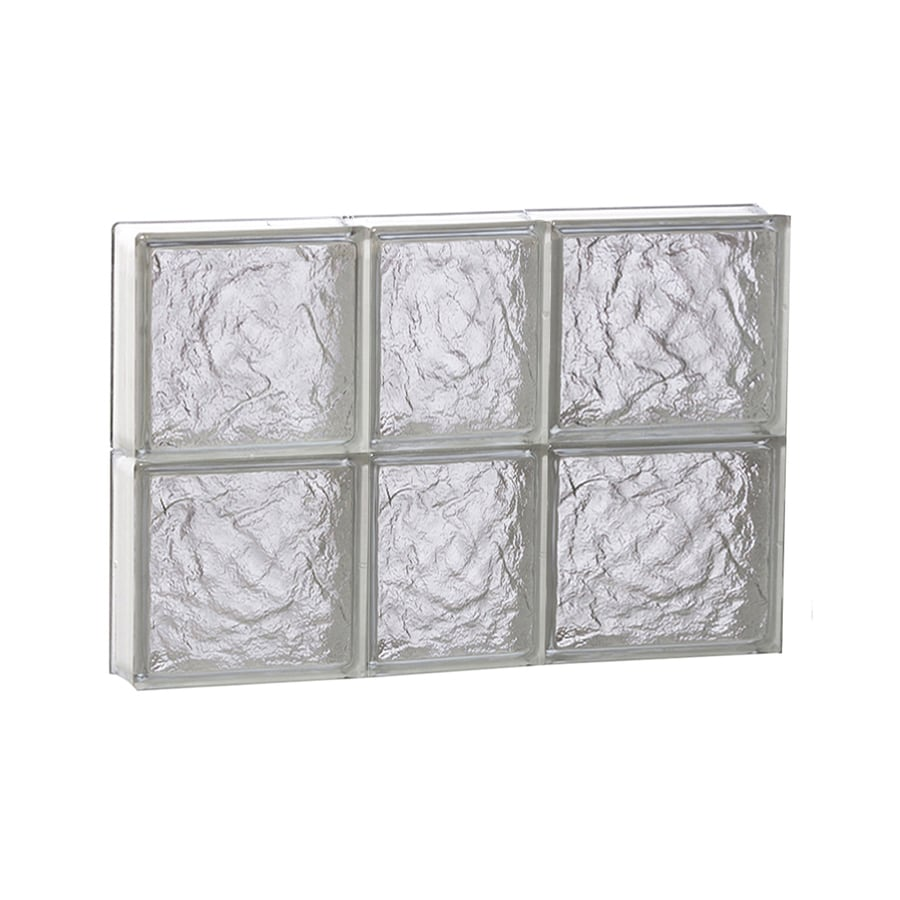 REDI2SET Ice Glass Pattern Frameless Replacement Block Window (Rough Opening: 22-in x 16-in; Actual: 21.25-in x 15.5-in)