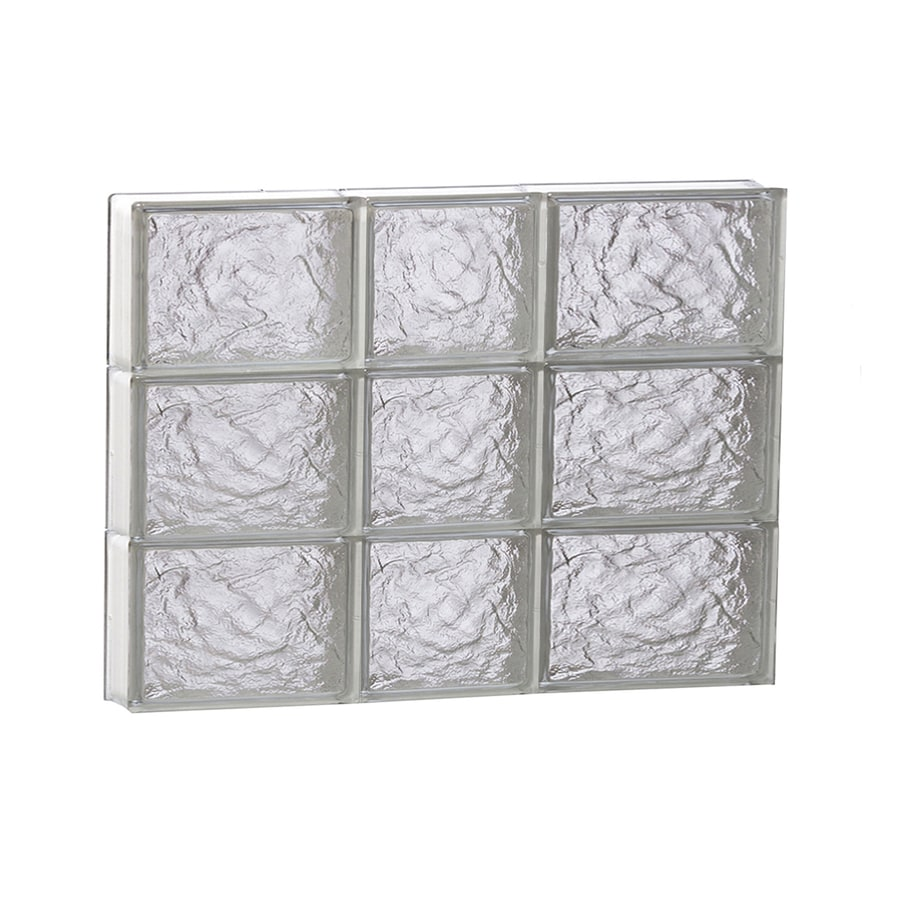 REDI2SET Ice Glass Pattern Frameless Replacement Block Window (Rough Opening: 22-in x 18-in; Actual: 21.25-in x 17.25-in)