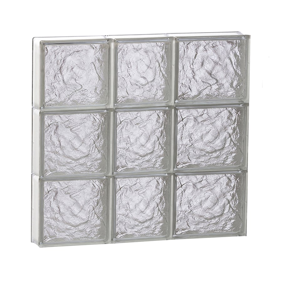 REDI2SET Ice Glass Pattern Frameless Replacement Block Window (Rough Opening: 22-in x 24-in; Actual: 21.25-in x 23.25-in)