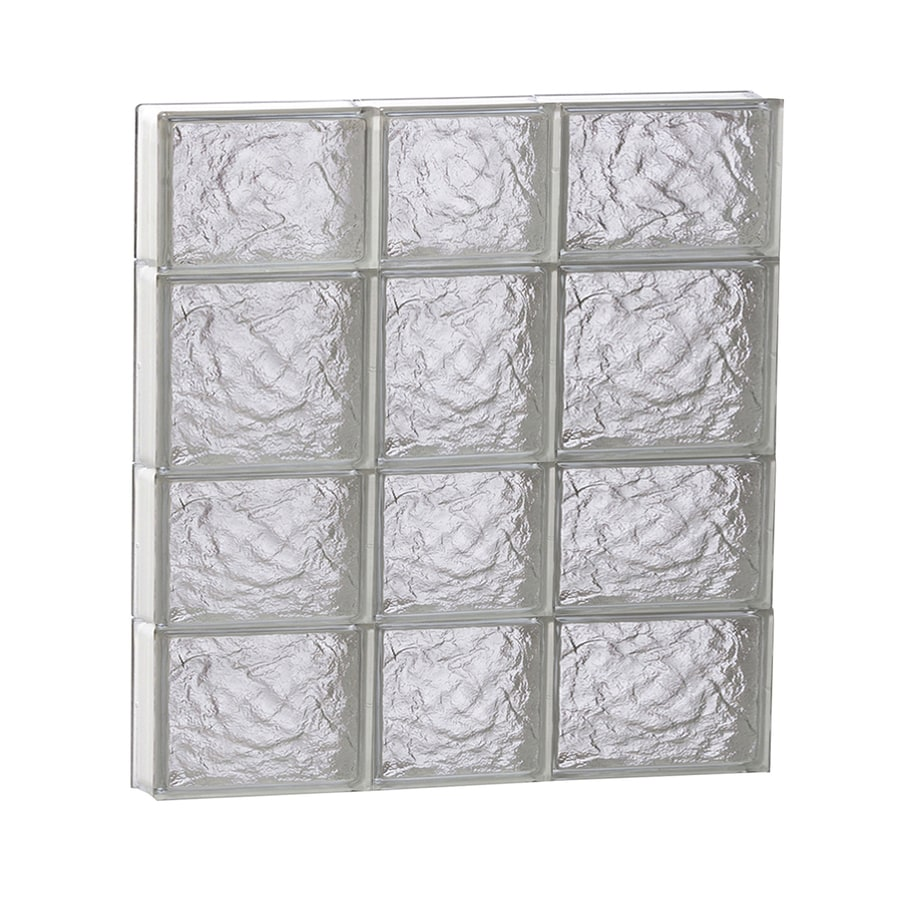 REDI2SET Ice Pattern Frameless Replacement Glass Block Window (Rough Opening: 22-in x 26-in; Actual: 21.25-in x 25-in)