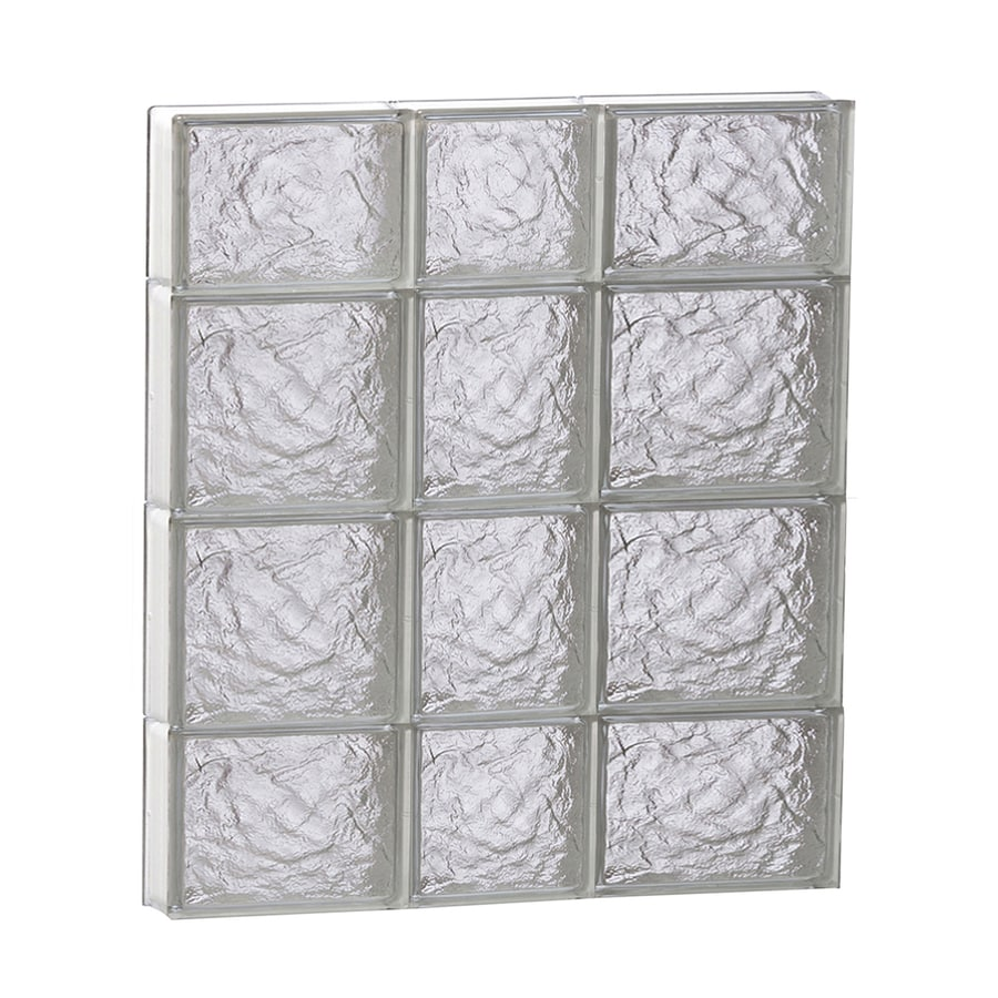 REDI2SET Ice Glass Pattern Frameless Replacement Block Window (Rough Opening: 22-in x 28-in; Actual: 21.25-in x 27-in)