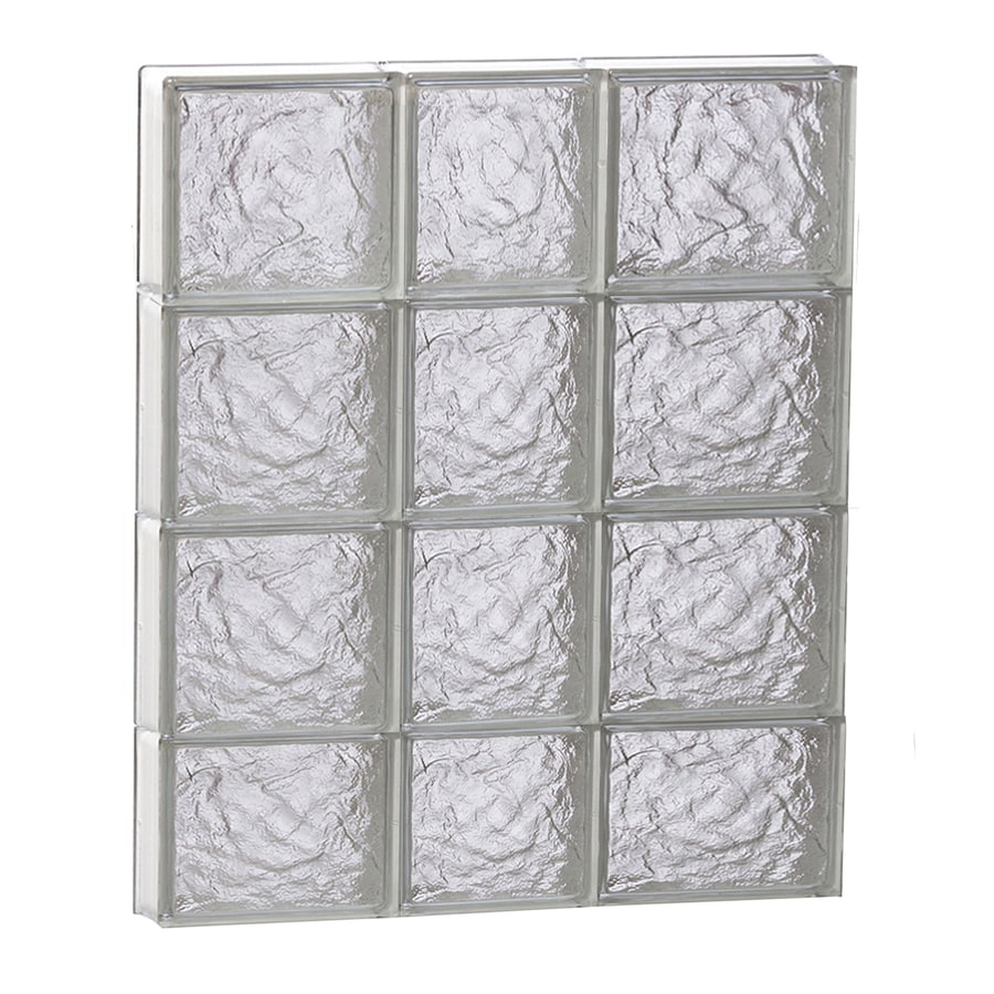 REDI2SET Ice Pattern Frameless Replacement Glass Block Window (Rough Opening: 22-in x 30-in; Actual: 21.25-in x 29-in)