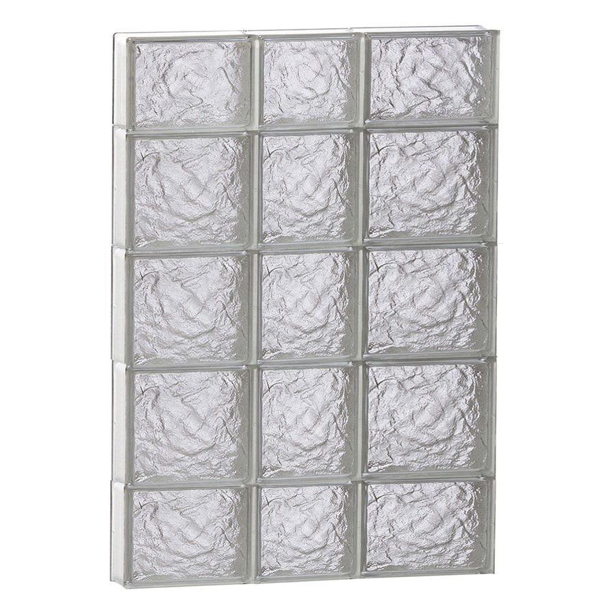 REDI2SET Ice Glass Pattern Frameless Replacement Block Window (Rough Opening: 22-in x 36-in; Actual: 21.25-in x 34.75-in)