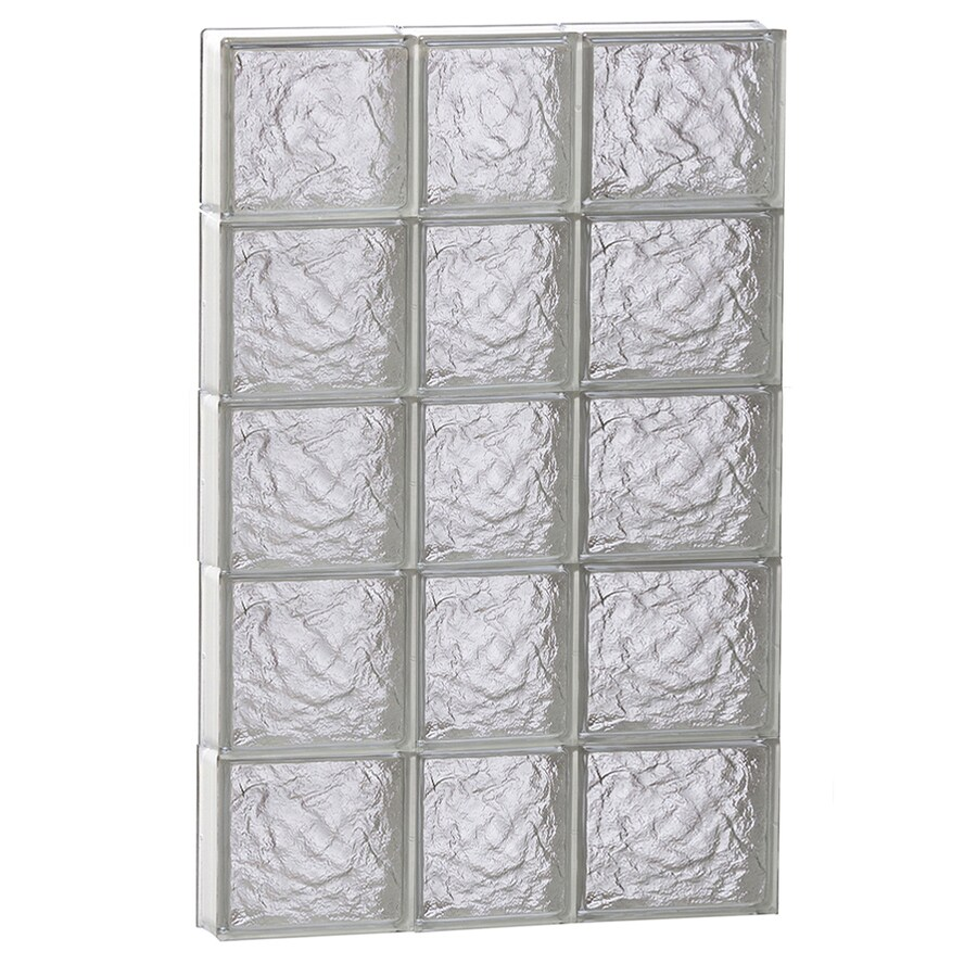 REDI2SET Ice Glass Pattern Frameless Replacement Block Window (Rough Opening: 22-in x 40-in; Actual: 21.25-in x 38.75-in)