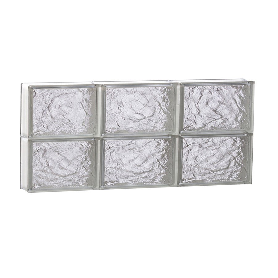 REDI2SET Ice Glass Pattern Frameless Replacement Block Window (Rough Opening: 24-in x 12-in; Actual: 23.25-in x 11.5-in)