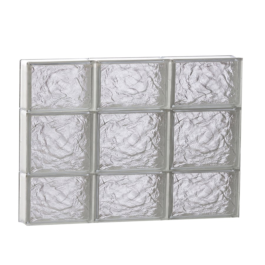 REDI2SET Ice Glass Pattern Frameless Replacement Glass Block Window (Rough Opening: 24-in x 20-in; Actual: 23.2500-in x 19.2500-in)
