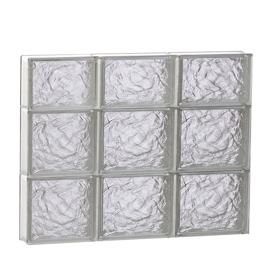 REDI2SET Ice Glass Pattern Frameless Replacement Block Window (Rough Opening: 24-in x 22-in; Actual: 23.25-in x 21.25-in)