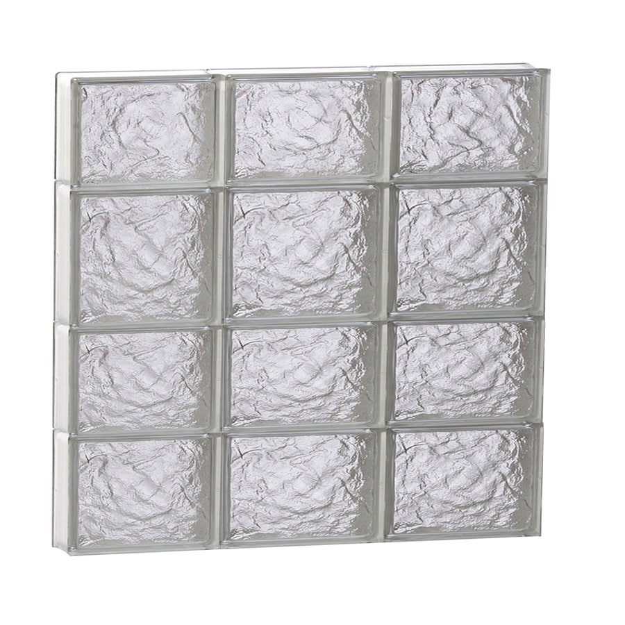REDI2SET Ice Glass Pattern Frameless Replacement Block Window (Rough Opening: 24-in x 26-in; Actual: 23.25-in x 25-in)