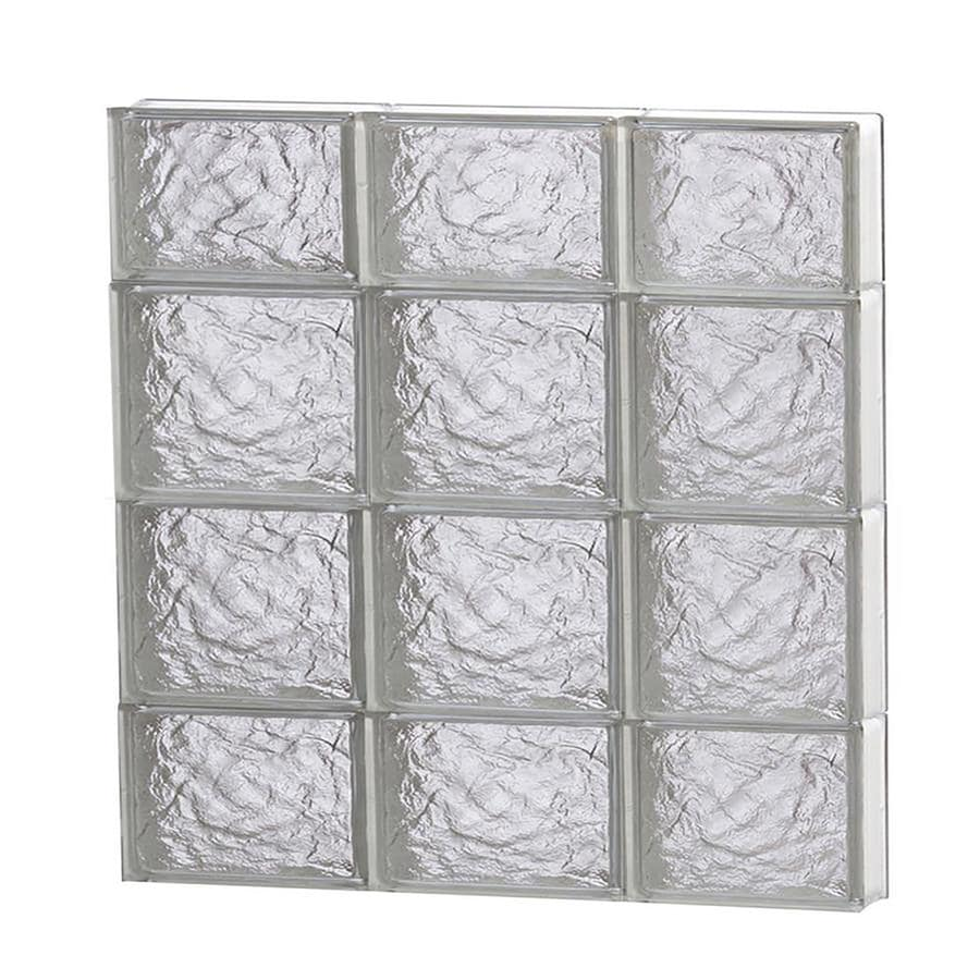 REDI2SET Ice Glass Pattern Frameless Replacement Block Window (Rough Opening: 24-in x 28-in; Actual: 23.25-in x 27-in)
