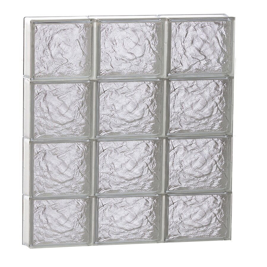 REDI2SET Ice Glass Pattern Frameless Replacement Block Window (Rough Opening: 24-in x 30-in; Actual: 23.25-in x 29-in)
