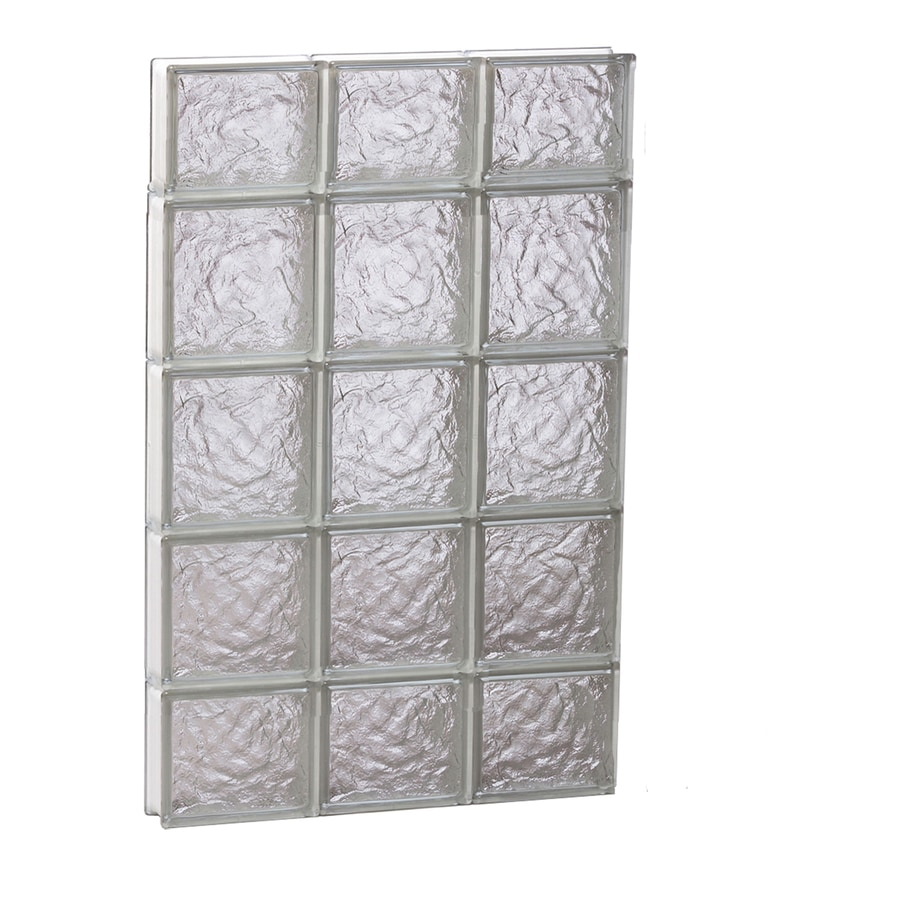 REDI2SET Ice Glass Pattern Frameless Replacement Block Window (Rough Opening: 24-in x 36-in; Actual: 23.25-in x 34.75-in)