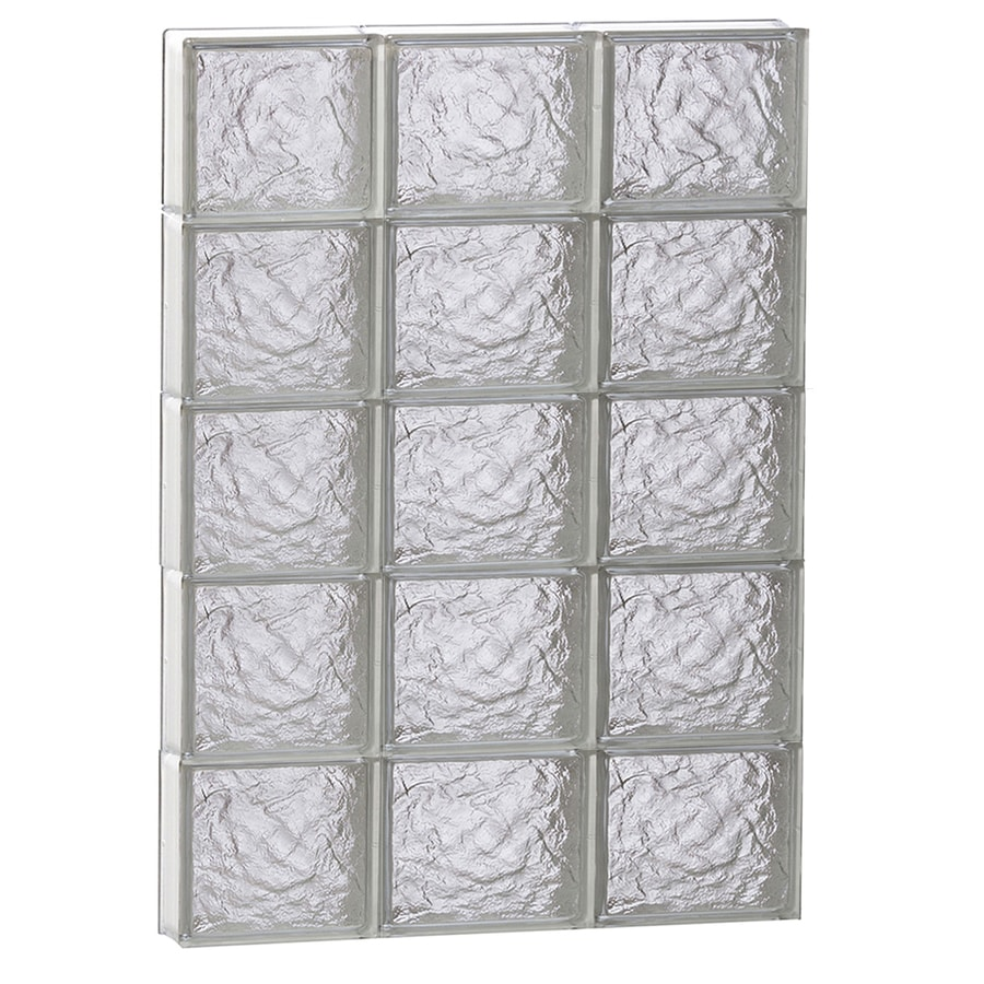 REDI2SET Ice Pattern Frameless Replacement Glass Block Window (Rough Opening: 24-in x 40-in; Actual: 23.25-in x 38.75-in)