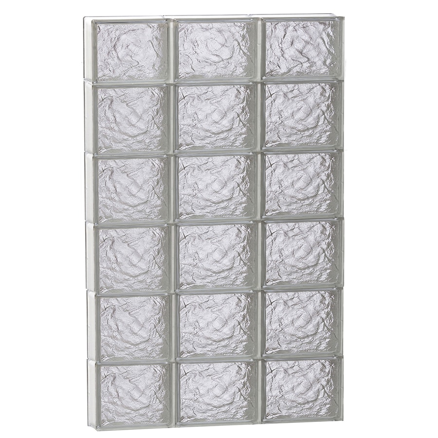REDI2SET Ice Glass Pattern Frameless Replacement Block Window (Rough Opening: 24-in x 44-in; Actual: 23.25-in x 42.5-in)