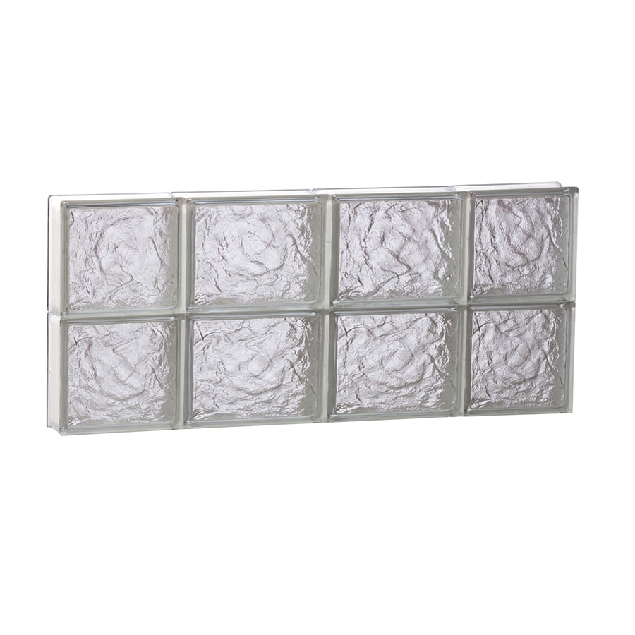 REDI2SET Ice Pattern Frameless Replacement Glass Block Window (Rough Opening: 28-in x 12-in; Actual: 27-in x 11.5-in)