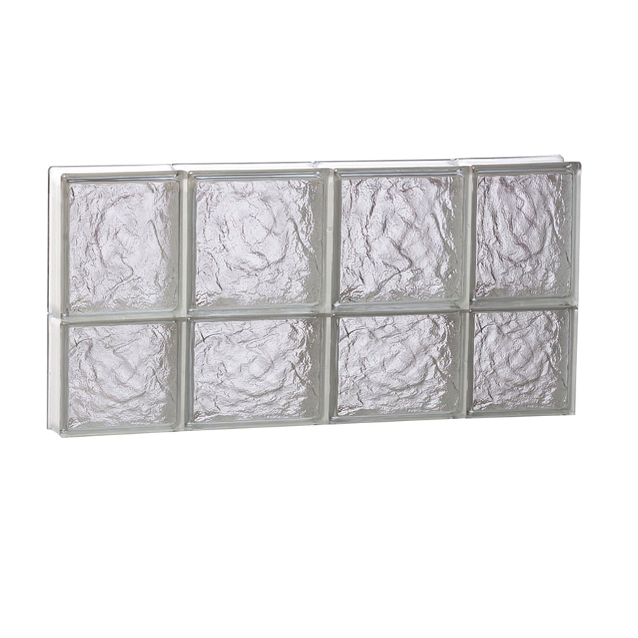 REDI2SET Ice Glass Pattern Frameless Replacement Glass Block Window (Rough Opening: 28-in x 14-in; Actual: 27-in x 13.5000-in)