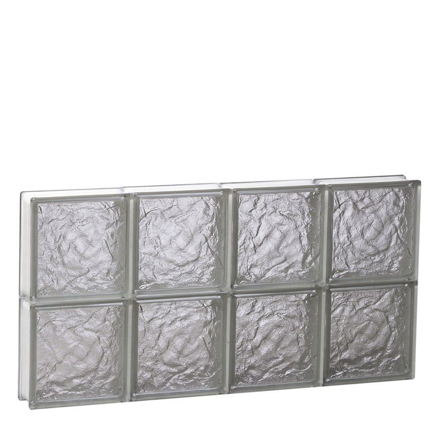 REDI2SET Ice Glass Pattern Frameless Replacement Glass Block Window (Rough Opening: 28-in x 16-in; Actual: 27-in x 15.5000-in)