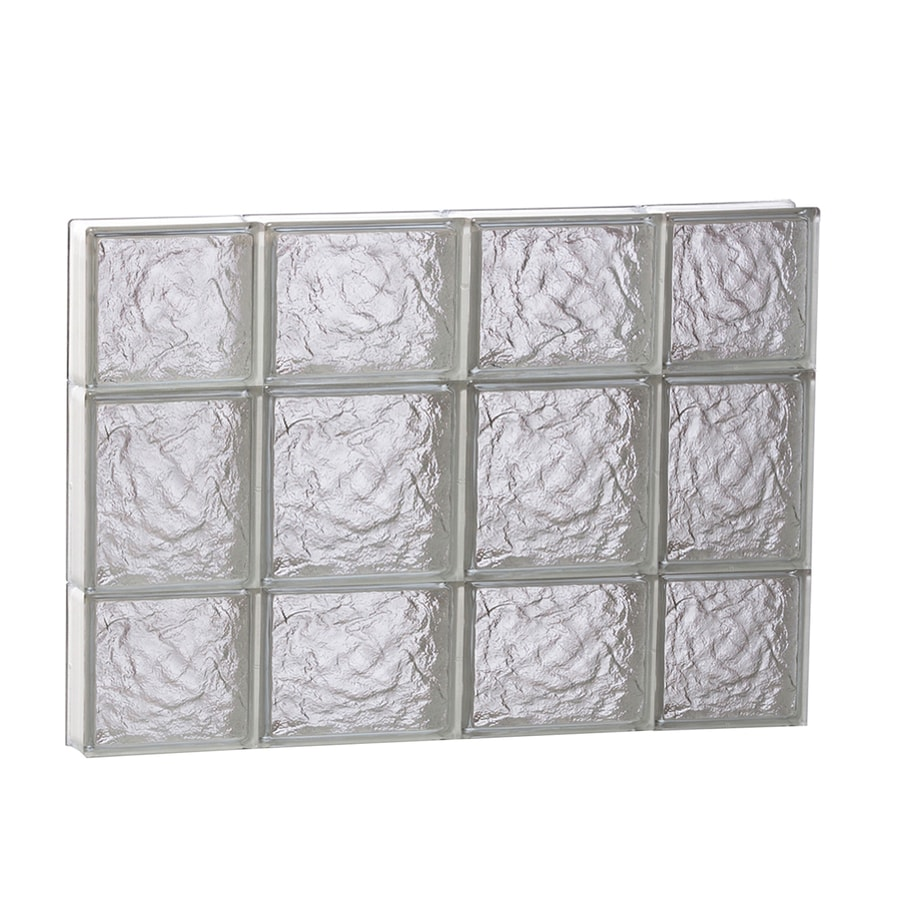 REDI2SET Ice Glass Pattern Frameless Replacement Block Window (Rough Opening: 28-in x 20-in; Actual: 27-in x 19.25-in)