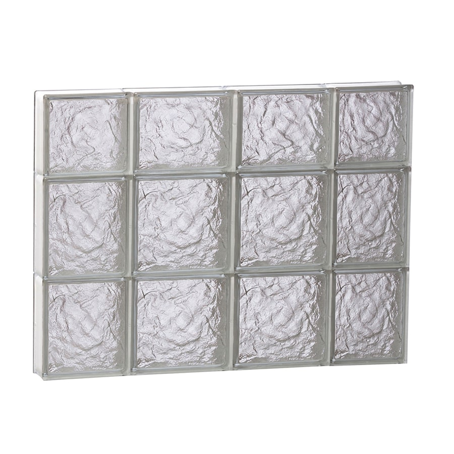 REDI2SET Ice Pattern Frameless Replacement Glass Block Window (Rough Opening: 28-in x 22-in; Actual: 27-in x 21.25-in)