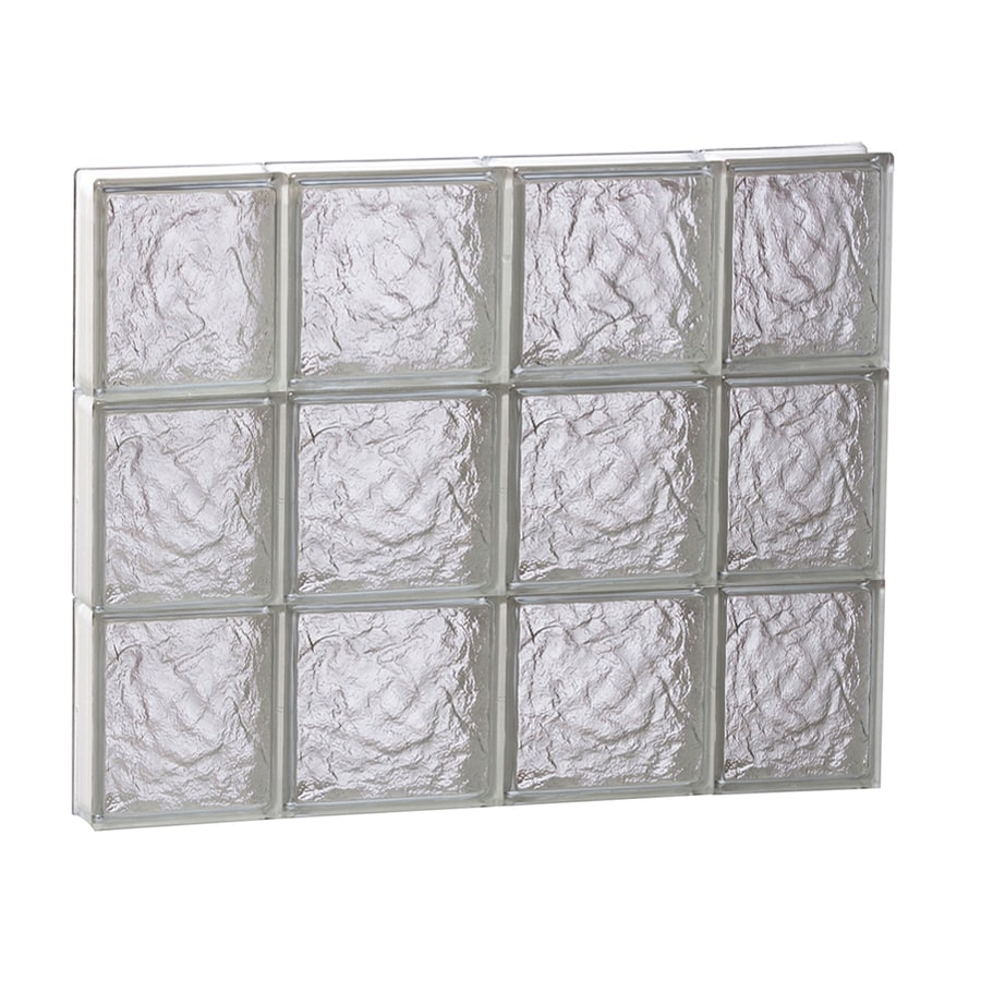 REDI2SET Ice Glass Pattern Frameless Replacement Block Window (Rough Opening: 28-in x 24-in; Actual: 27-in x 23.25-in)