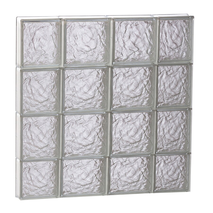 REDI2SET Ice Glass Pattern Frameless Replacement Block Window (Rough Opening: 28-in x 30-in; Actual: 27-in x 29-in)