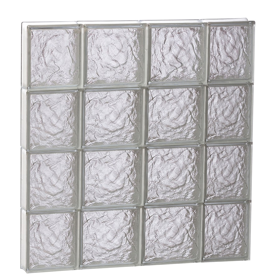 REDI2SET Ice Glass Pattern Frameless Replacement Block Window (Rough Opening: 28-in x 32-in; Actual: 27-in x 31-in)