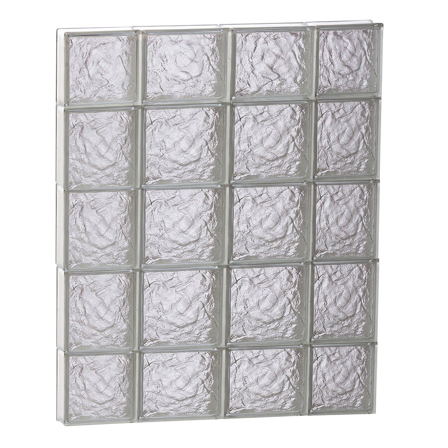 REDI2SET Ice Pattern Frameless Replacement Glass Block Window (Rough Opening: 28-in x 36-in; Actual: 27-in x 34.75-in)