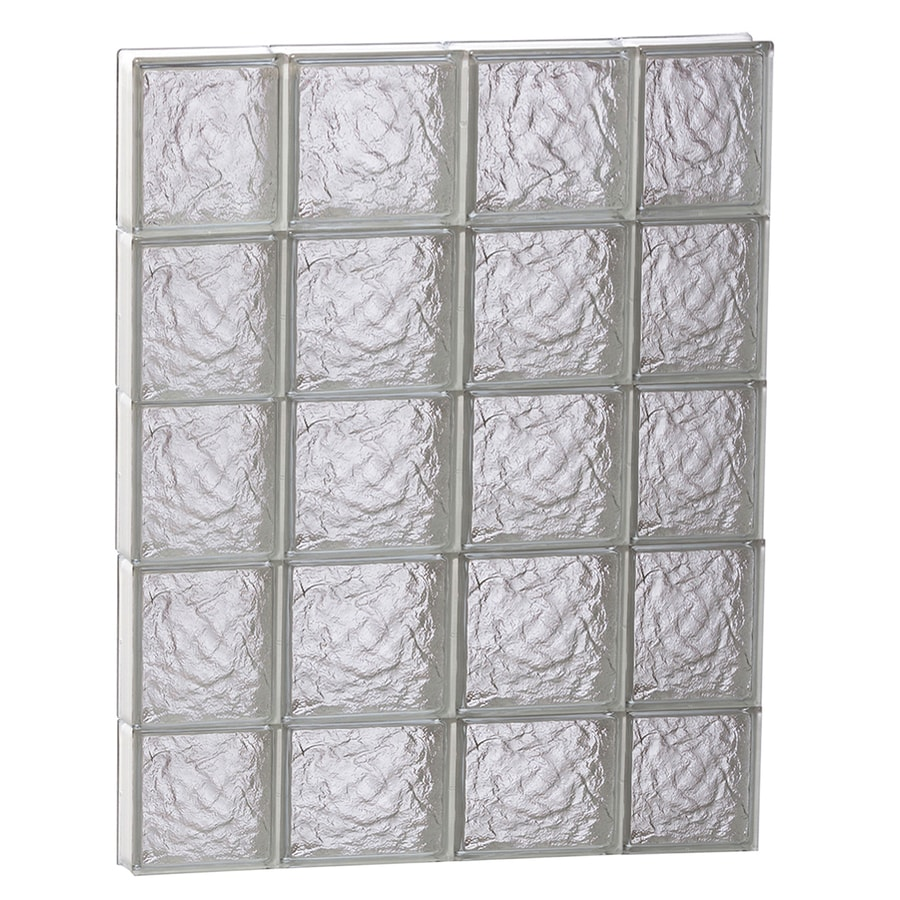 REDI2SET Ice Glass Pattern Frameless Replacement Block Window (Rough Opening: 28-in x 38-in; Actual: 27-in x 36.75-in)