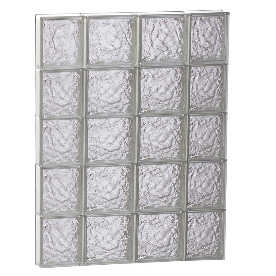 REDI2SET Ice Glass Pattern Frameless Replacement Glass Block Window (Rough Opening: 28-in x 40-in; Actual: 27-in x 38.7500-in)
